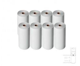8 Rollos de Papel Térmico 80x45x12mm