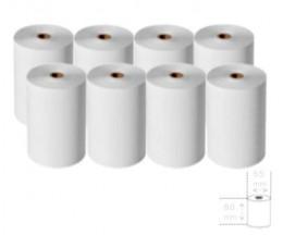 8 Rollos de Papel Térmico 80x65x12mm