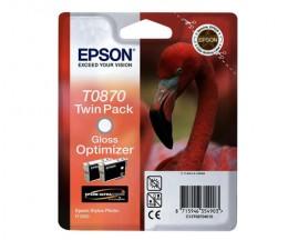 2 Cartuchos de tinta Originales, Epson T0870 Otimizador de Gloss 11.4ml