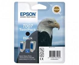 2 Cartuchos de tinta Originales, Epson T007 Negro 16ml