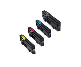 4 Cartuchos de Toneres Compatibles, DELL 593BBBX Negro + Colores ~ 6.000 / 4.000 Paginas