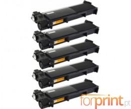 5 Cartuchos de Toneres Compatibles, Brother TN-2320 Negro ~ 2.600 Paginas