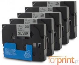 5 Cintas Compatibles, Brother TZE931 12mm x 8m Laminado