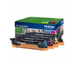 4 Cartuchos de Toner Originales, Brother TN-243 Negro + Colores ~ 1.000 Paginas