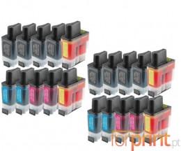 20 Cartuchos de tinta Compatibles, Brother LC-900 Negro 20ml + Colores 12ml