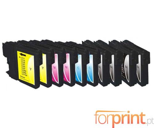 10 Cartuchos de tinta Compatibles, Brother LC-980 XL / LC-1100 XL Negro 28ml + Colores 18ml