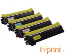 4 cartuchos de toneres Compatibles, Brother TN-230 Negro + Colores ~ 2.200 / 1.400 Paginas