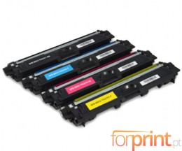 4 Cartuchos de Toneres Compatibles, Brother TN-241 / TN-245 Negro + Colores ~ 2.500 / 2.200 Paginas
