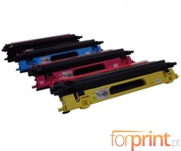 4 cartuchos de toneres Compatibles, Brother TN-130 / TN-135 Negro + Colores ~ 5.000 / 4.000 Paginas