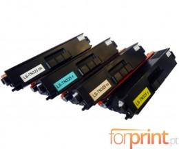 4 cartuchos de toneres Compatibles, Brother TN-325 / TN-320 / TN-328 Negro + Colores ~ 6.000 / 3.500 Paginas