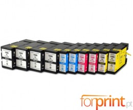 10 Cartuchos de tinta Compatibles, Canon PGI-1500 Negro 36ml + Colores 11.5ml
