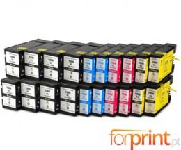 20 Cartuchos de tinta Compatibles, Canon PGI-1500 Negro 36ml + Colores 11.5ml