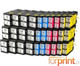 30 Cartuchos de tinta Compatibles, Canon PGI-1500 Negro 36ml + Colores 11.5ml