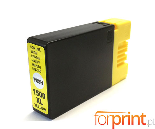 Cartucho de Tinta Compatible Canon PGI-1500 XLY Amarillo 11.5ml