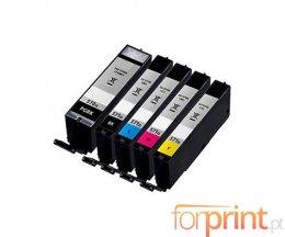 5 Cartuchos de Tinta Compatibles, Canon PGI-570XL Negro 22ml + CLI-571XL Colores 11ml