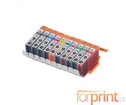10 Cartuchos de Tinta Compatibles, Canon PGI-9 Negro + Colores 13.4ml