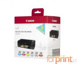 6 Cartuchos de tinta Originales, Canon PGI-29 C / M / Y / PC / PM / R