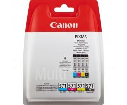 4 Cartuchos de Tinta Original, Canon CLI-571 Colores 7ml