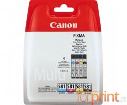 4 Cartuchos de tinta Originales, Canon CLI-581 C / M / Y / PBK