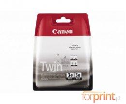 2 Cartuchos de tinta Originales, Canon BCI-3 EBK Negro 27ml ~ 500 Paginas