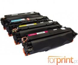 4 cartuchos de toneres Compatibles, Canon EP-718 Negro + Colores 4.400 / 2.800 Paginas
