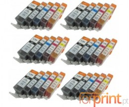 30 Cartuchos de tinta Compatibles, Canon PGI-525 / CLI-526 Negro 19.4ml + Colores 9ml