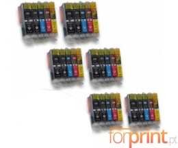 30 Cartuchos de tinta Compatibles, Canon PGI-550 XL / CLI-551 Negro 22ml + Colores 13ml