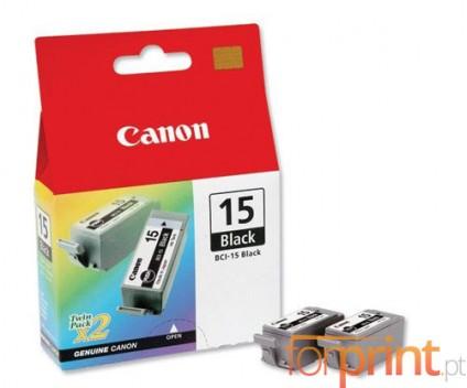 2 Cartuchos de tinta Originales, Canon BCI-15 Negro 5.3ml