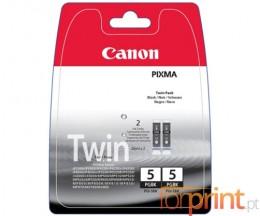 2 Cartuchos de tinta Originales, Canon PGI-5BK Negro 26ml