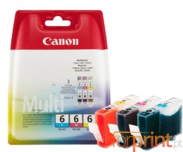 3 Cartuchos de tinta Originales, Canon BCI-6 Colores 13ml