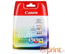 3 Cartuchos de tinta Originales, Canon BCI-3 E Colores 14ml
