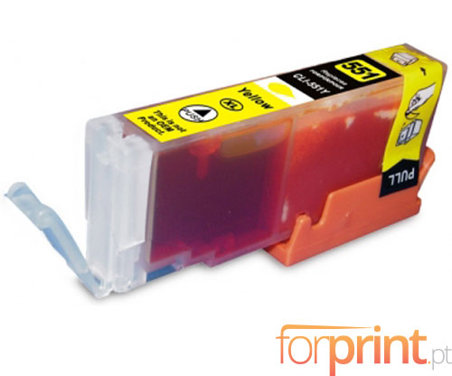 Cartucho de Tinta Compatible Canon CLI-551 XL Amarillo 13ml