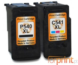 2 Cartuchos de tinta Compatibles, Canon PG-540 XL / CL-541 XL Negro 24ml + Colores 21ml
