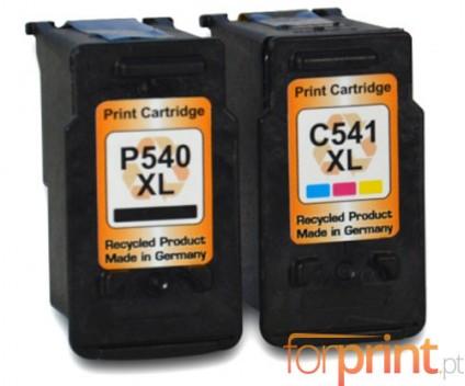 2 Cartuchos de tinta Compatibles, Canon PG-540 XL / CL-541 XL Negro 24ml + Colores 21ml