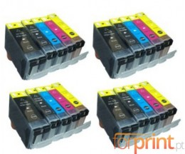 20 Cartuchos de tinta Compatibles, Canon PGI-5 / CLI-8 Negro 26.8ml + Colores 13.4ml