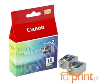 2 Cartuchos de tinta Originales, Canon BCI-16 Colores 2.5ml