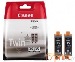 2 Cartuchos de tinta Originales, Canon PGI-35 Negro 9.3ml