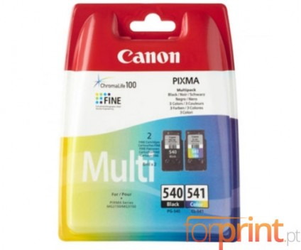 2 Cartuchos de tinta Originales, Canon PG-540 / CL-541 Negro 8ml + Colores 8ml