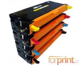4 Cartuchos de Toneres Compatibles, DELL 5931017X Negro + Colores ~ 8.000 Paginas
