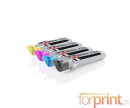 4 Cartuchos de Toneres Compatibles, Epson S05014X Negro + Colores ~ 8.000 Paginas