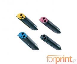4 Cartuchos de Toneres Compatibles, Epson S05022X Negro + Colores ~ 5.000 Paginas