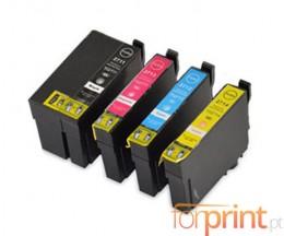 4 Cartuchos de tinta Compatibles, Epson T2701-T2704 / T2711-T2714 Negro 22.4ml + Colores 15ml