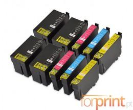 10 Cartuchos de tinta Compatibles, Epson T2701-T2704 / T2711-T2714 Negro 22.4ml + Colores 15ml