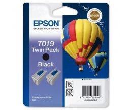 2 Cartuchos de tinta Originales, Epson T019 Negro 24ml