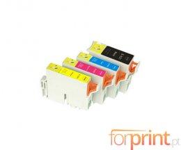4 Cartuchos de Tinta Compatibles, Epson T0321 Negro 36ml + T0422-T0424 Colores 15.4ml