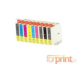 9 Cartuchos de Tinta Compatibles, Epson T0591-T0599 Negro + Colores 17ml
