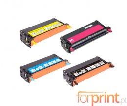 4 Cartuchos de Toneres Compatibles, Epson S0511XX Negro + Colores ~ 8.000 / 6.000 Paginas