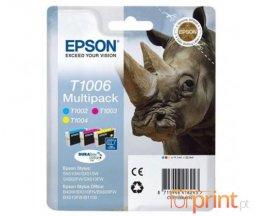 3 Cartuchos de tinta Originales, Epson T1002-T1004 Colores 11.1ml