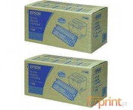 2 Cartuchos de Toneres Originales, Epson S051189 Negro ~ 15.000 Paginas