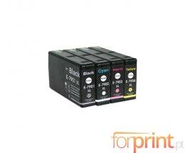 4 Cartuchos de Tinta Compatibles, Epson T7891-T7894 Negro 65ml + Colores 35ml
